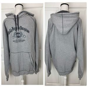 DE LA HOYA vs PACQUIAO Gray Hoodie Sweatshirt 2XL